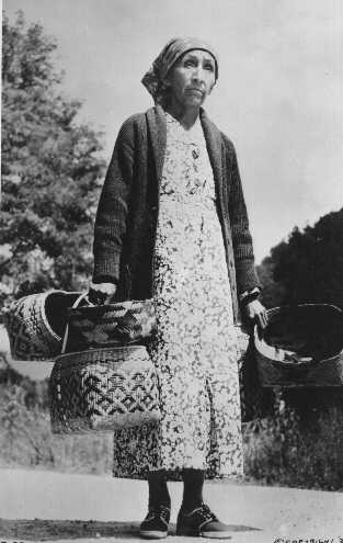 Mrs. June Welch, a Cherokee Woman, in traditional regalia. Photo taken at