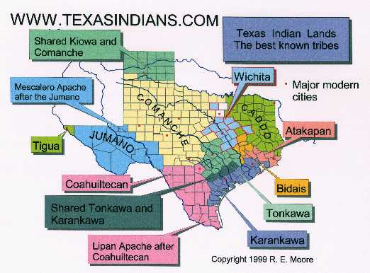 Indian Tribes In Us Map.Texas Indians Com Maps