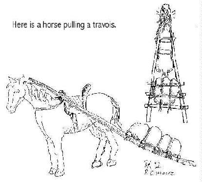 Why Not Make A Horse Or Dog With Travois For Project Use Toy And Tie Sticks Pipe Cleaners Together To The